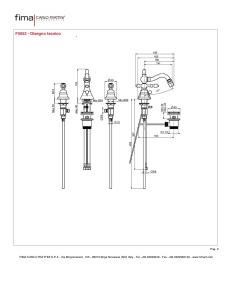 BIDET TRE FORI CON CANNA GIREVOLE SERIE EPOQUE - F5052