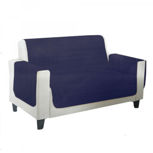 Copridivano trapuntato Relax scudo - 4 posti - blu
