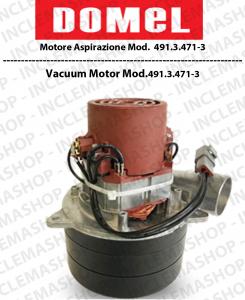 491.3.471-3 motore aspirazione DOMEL per aspirapolvere e lavapavimenti
