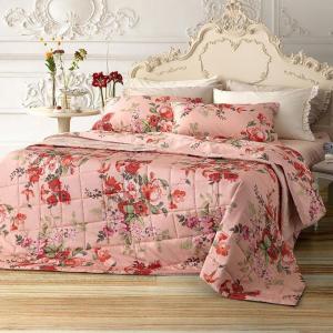 Set lenzuola matrimoniale 2 piazze TWINSET Secret Garden rosa chiaro