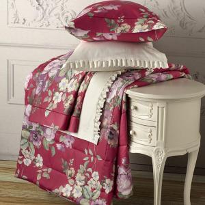 Set lenzuola matrimoniale 2 piazze TWINSET Secret Garden rosa cerise