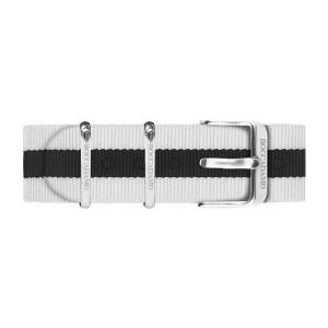 Orologio Boccadamo con quadrante nero e cinturino in nylon bicolor