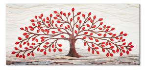 Cartapietra Quadro Albero della Vita Rosso
