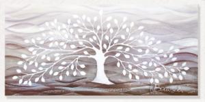 Cartapietra Quadro Albero della Vita Bianco