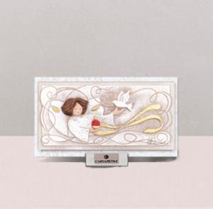 Cartapietra Quadretto Cresima Luce della Purezza 16 x 9 cm