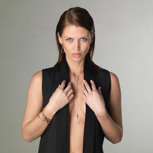Collana Elika Y-shape cm.5 in oro rosa e diamanti brown