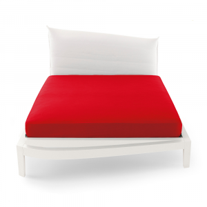 Lenzuolo con angoli matrimoniale altezza 32 cm Bossi rosso 0007