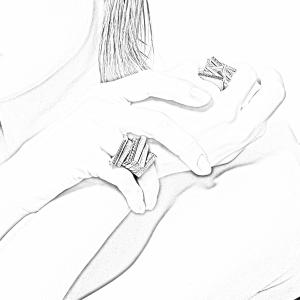 Anello in oro 18k e diamante