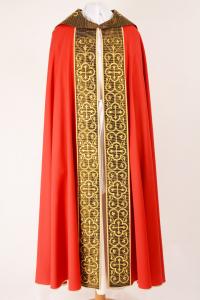 Piviale Rinascimento P88A Rosso - Tela di lana