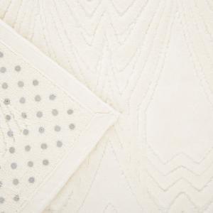 Roberto Cavalli tappeto da bagno DECO' color panna spugna cotone antiscivolo