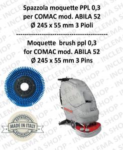 SPAZZOLA MOQUETTE ppl 0,3 per lavapavimenti COMAC mod. ABILA 52 con 3 pioli