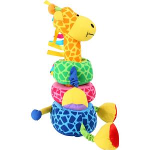 Giraffa da infilare gioco peluche ad incastro con sonagli Legler 5547