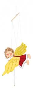 Giostrina Angelo in legno arredo decorazioni cameretta per neonato bambini