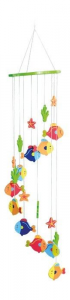 Giostrina Giostra Pesci in legno arredo cameretta,culla per neonati e bambini