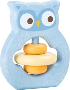 Gioco Tattile in legno per bambini neonato Civetta
