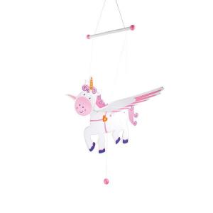 Unicorno oscillante in legno Giostrina culla neonato Legler 10113