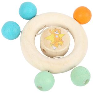 Anello tattile per neonato in legno Leper con perle