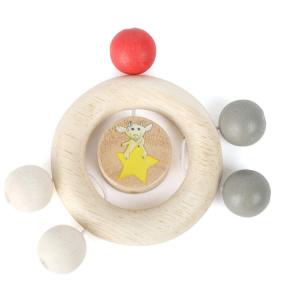 Tattile Anello prensile in legno Ludwig con perle Gioco per neonato