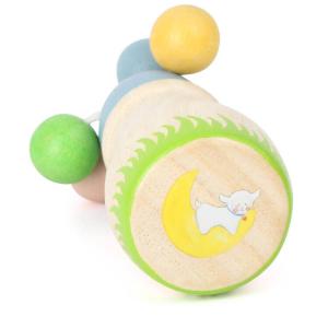 Sonaglio in legno gioco per neonato Pecorella Lotta con sfere