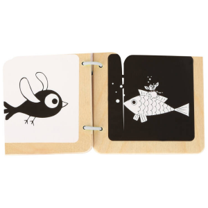 Libro in legno per bambini Ludwig (Contrasti)