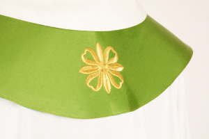 Stola S25A Ricca M1 Verde Fiore Antico - Faille
