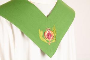 Stola S35 M1 Verde Melograni - Terital Lana