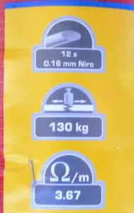 Banda fibra acciaio mt.200 da 40mm
