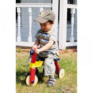 Gioco triciclo/bicicletta senza pedali legno, primi passi x bambino