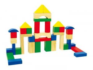 Cubetti colorati x costruire torri/castelle in legno Gioco bambini
