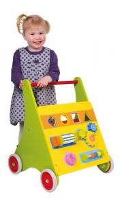 Carrello primi passi educativo in legno gioco bambini motricità