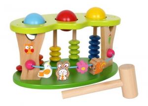 Prato attività da battere 3 giochi in 1 Gioco in legno x bambini
