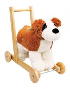 Cane da gioco con struttura legno x primi passi giocattolo x bambino/bambina