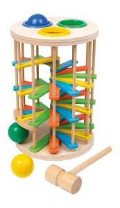 Torre con martello grande con inserti in legno Gioco x bambini