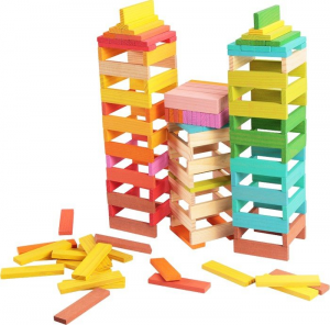 Torre Cubetti in legno costruzioni in legno Gioco bambini