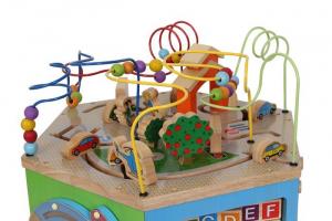 Dado motricità in legno Viaggio di scoperta Gioco per bambini