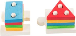 Puzzle Gioco ad incastro Forme in legno gioco neonato bambino aiuto motricità