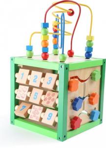 Dado motricità gioco didattico in legno con vari giochi Legler 5886