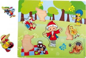 Puzzle in legno Omino del sonno. Gioco per bambini