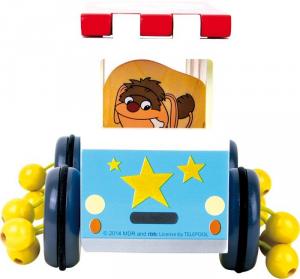 Autobus in legno gioco da tirare Omino del sonno, Legler