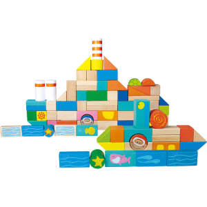 Cubetti da costruzione in legno Mondo subacqueo x creare navi e città