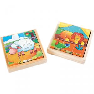 Puzzle a dadi Fattoria & Zoo Set da 2 Legler 10076