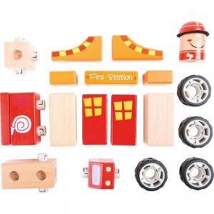 Set da costruzioni in legno Pompieri Gioco per bambini Legler 10080