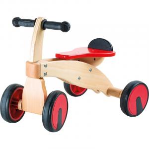 Primi passi in legno Veicolo a spinta per bambini Bolide rosso Legler 10233