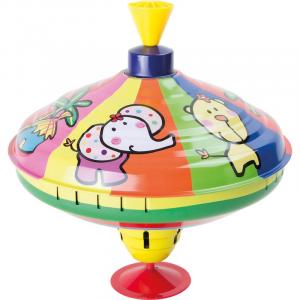 Trottola sonora in latta Animali giocattolo per bambini Legler 10299