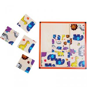 Puzzle in legno con cornice Safari Legler 10342