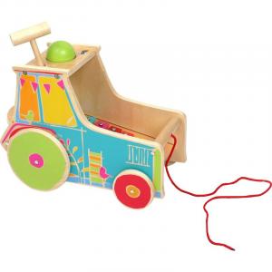 Gioco motricità bambini trattore da tirare con xilofono Legler 10377