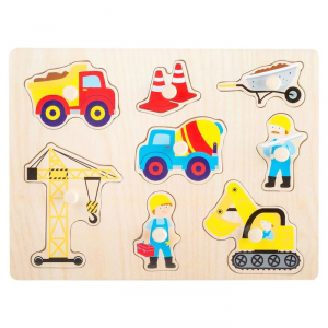 Puzzle in legno Cantiere Gioco per Bambini Legler 10445