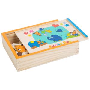 Puzzle con scatola in legno DieMaus