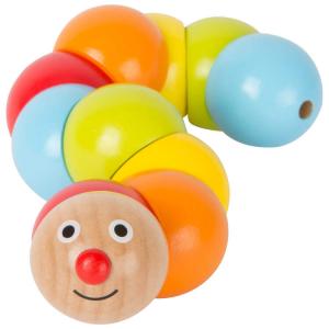 Bruco in legno piegabile e colorato Gioco motricità per bambini
