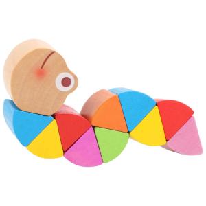 Bruco in legno colorato Arcobaleno Espositore display